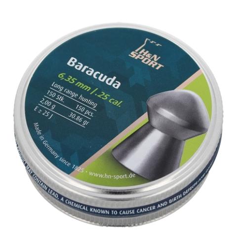 Śrut diabolo H&N Baracuda 6.35mm 150szt (92186350003)