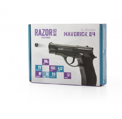 Pistolet RazorGun Maverick 84 4,5 mm BB's CO2