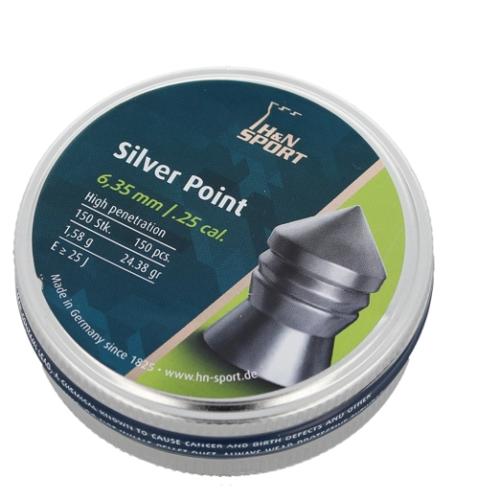 Śrut diabolo H&N Silver Point 6.35mm 150szt (92346350003)