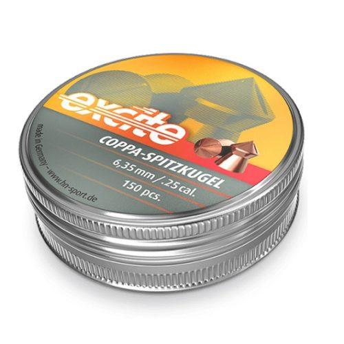 Diabolo H&N EXCITE COPPA-SPITZKUGEL 6,35 1op.=150szt. 24,54gr/1,59g