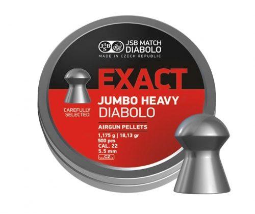 Śrut diabolo JSB Exact Jumbo Heavy 5,52 mm 500 szt.