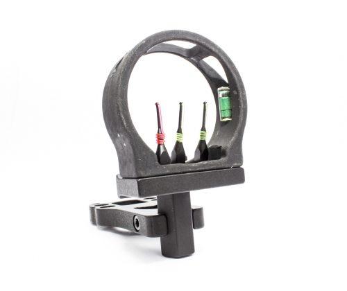Celownik myśliwski Poe Lang 3-pinowy światłowodowy z poziomiczką do łuku                Kod: 076-102