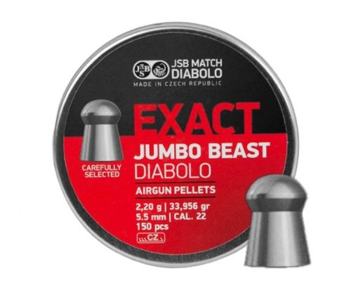 Śrut diabolo JSB Exact Jumbo Beast 5,52 mm 150 szt. najcięższy 2,20g.