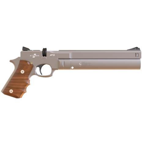 Pistolet PCP ATAMAN AP16 REGULATED PCP PISTOL Silver/Standard/Walnut   5,5mm+ tłumik