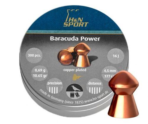 Śrut diabolo H&N Baracuda Power 4,5 mm 300 szt.       Kod: 051-041