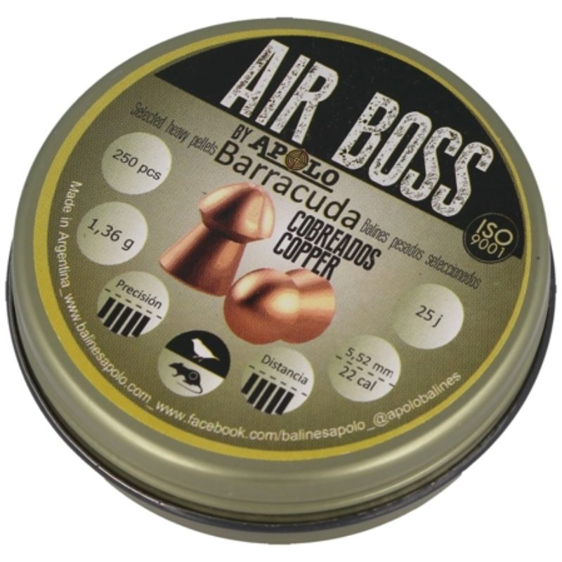 Śrut Apolo Air Boss Barracuda Miedziany 5.50mm 250szt