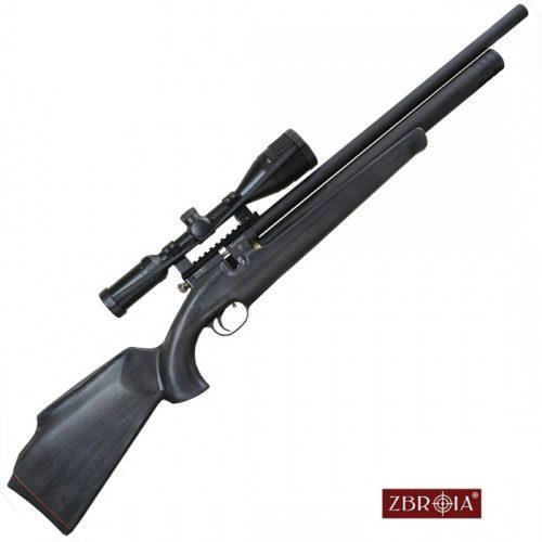 Używana – wiatrówka PCP  ZBROIA  Hortitsia 550/220   4,5mm. czarne drewno