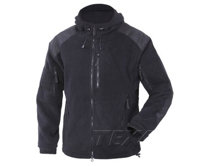 Bluza Polar Texar Husky Black czarna z kapturem  03-FLHU-CO