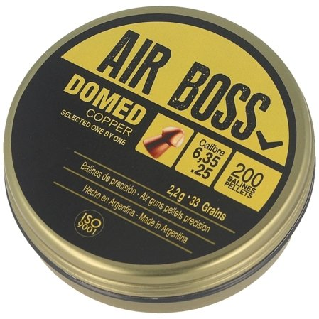 Śrut Apolo Air Boss Domed Copper 6.35mm-2,2g. 200szt     (E 30200)