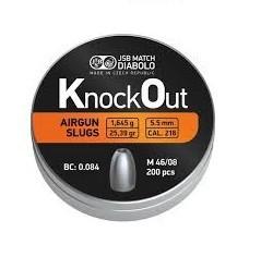 Śrut JSB Knock Out Slugs .216 / 5,5 mm.  – 200 szt.
