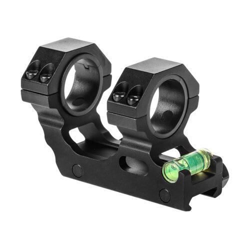 Montaż jednoczęściowy z poziomicą , szyna 22mm tubus 25-30mm.