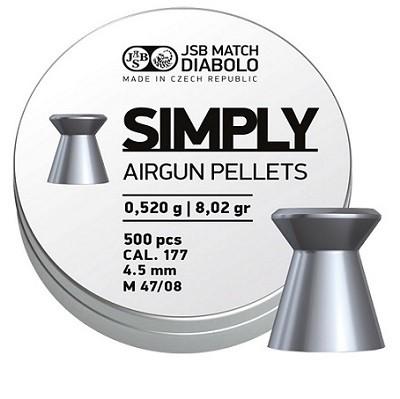 Śrut JSB Simply 4,5 mm 500 szt. 0,520 g
