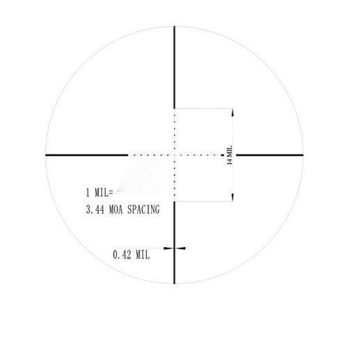 Luneta celownicza Valiant 4-16×50 SF SIR Mil-dot