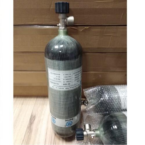 Butla PCP Carbon 6,8 litra 300 bar ze standardowym zaworem
