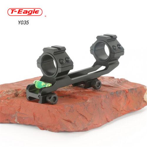 Montaż jednoczęściowy z poziomicą , szyna 22mm. tubus 25-30mm.