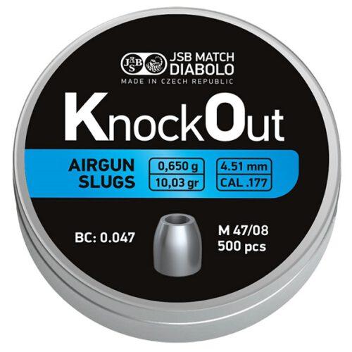 Śrut JSB KO Slugs .177 4,51 mm 0,650 g – 500 szt.